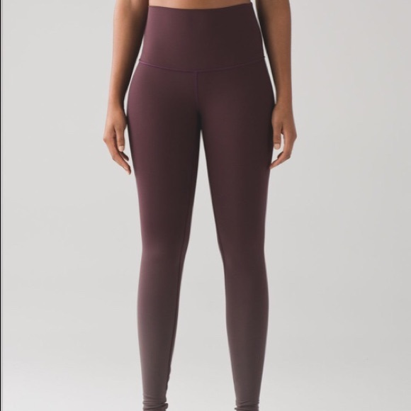 42f0b0ecd8 lululemon athletica Pants - Wunder Under Hi Rise Black Cherry Ombré Tights  12